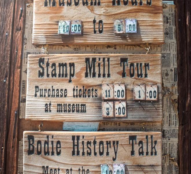 Bodie State Historic Park Museum Tour Zeiten