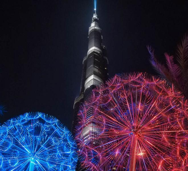 Burj Khalifa Lichter
