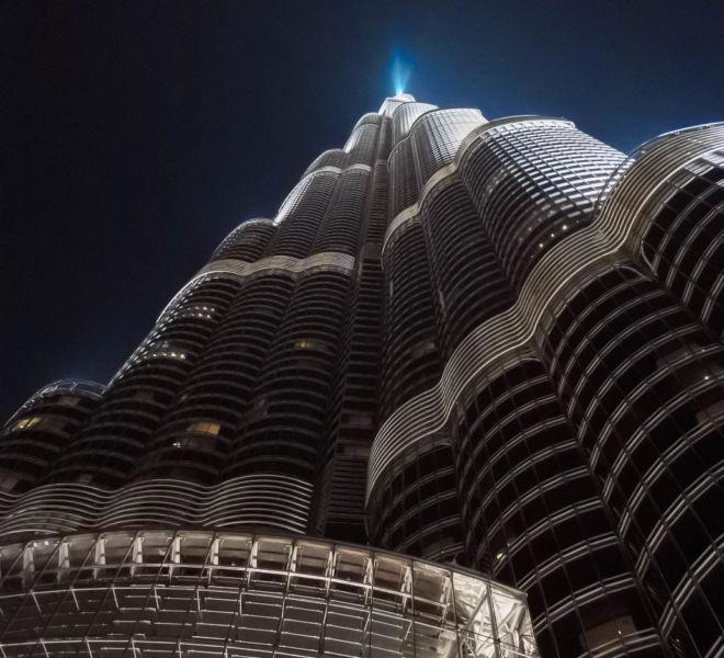 Dubai Burj Khalifa bei Nacht