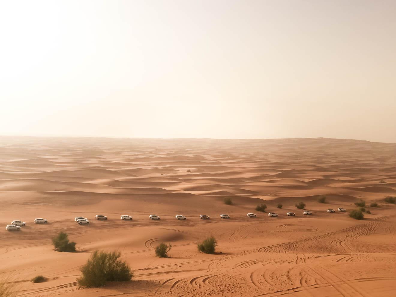 Dubai Wüstensafari Karawan
