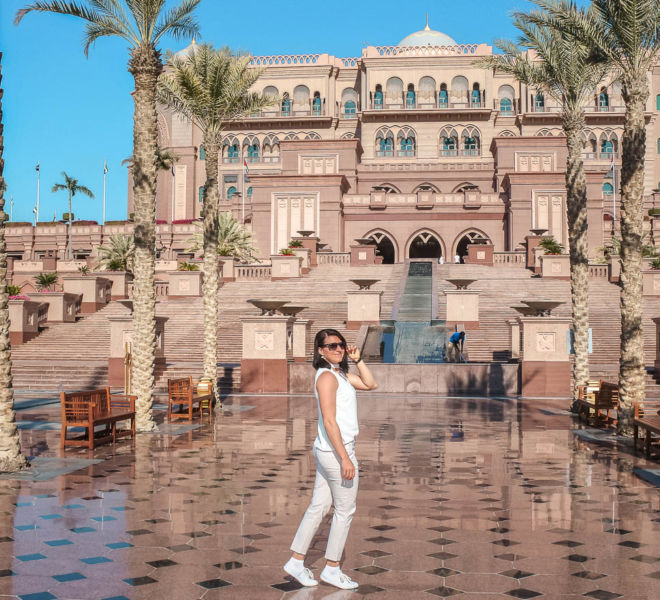 Eingang Emirates Palace