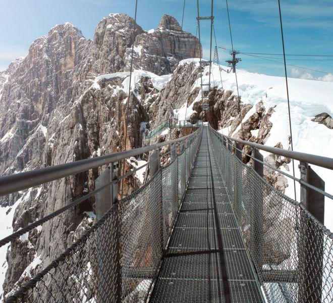 Hängebrücke Dachstein Gletscher
