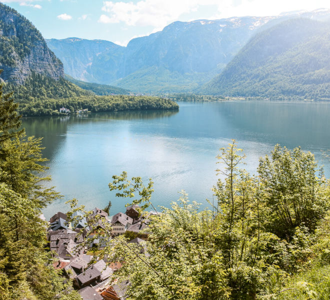 Hallstätter See Panoramablick