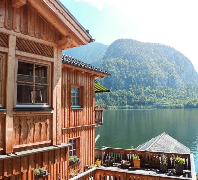 Hallstatt Haus Ausblick See