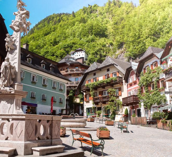 Hallstatt Österreich Marktplatz