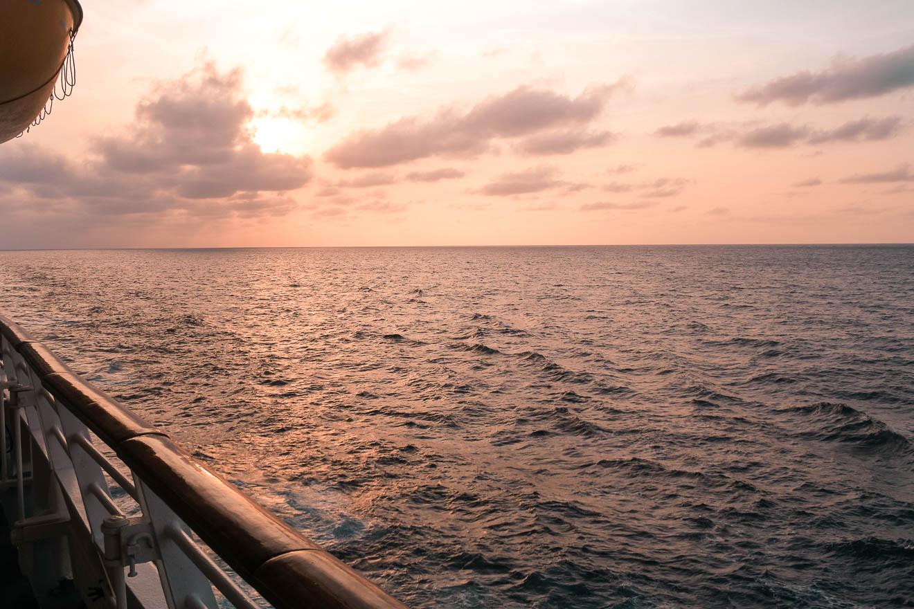 Karibik Kreuzfahrt Sonnenuntergang
