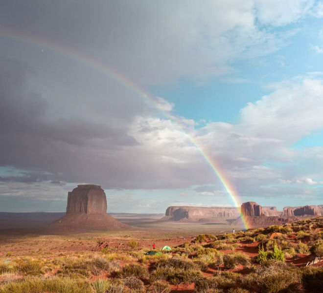 Monument Valley Regenbogen