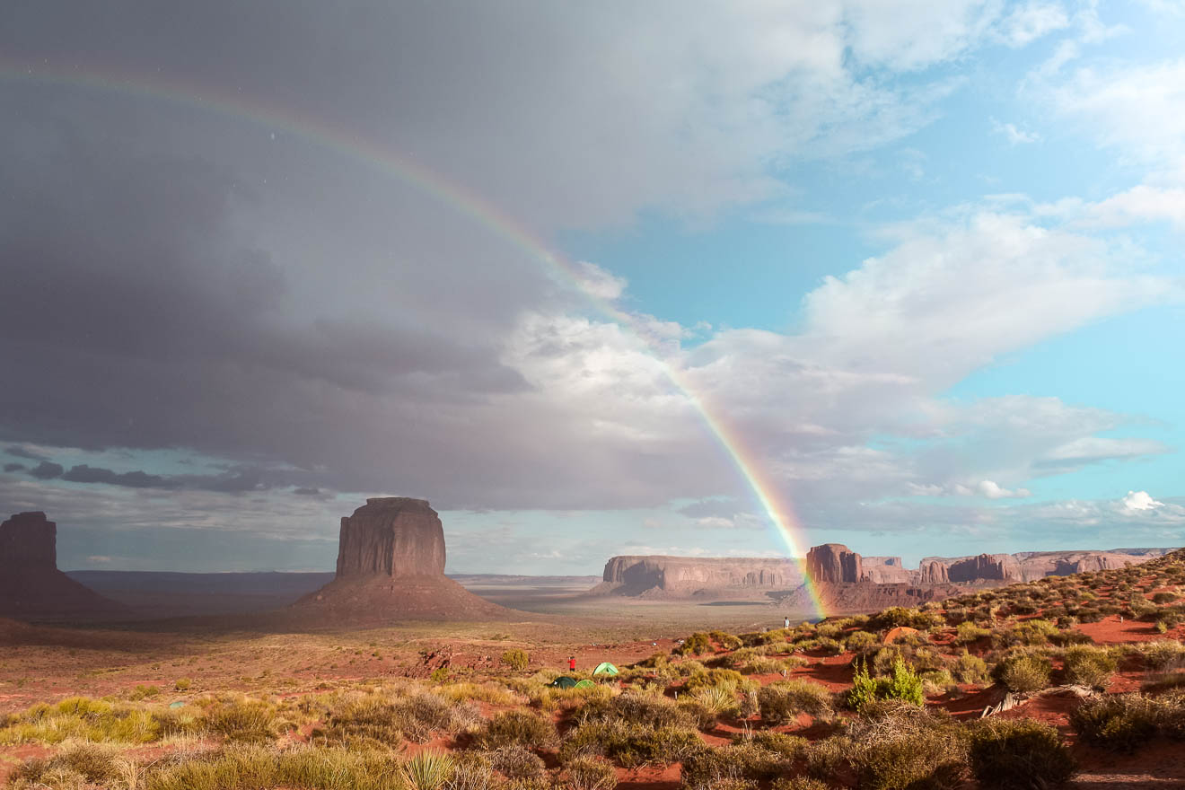 Monument Valley Regenbogen