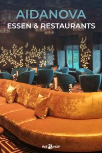 Pinterest AIDAnova Essen und Restaurants
