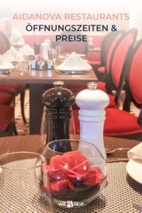 Pinterest AIDAnova Restaurants Öffnungszeiten und Preise