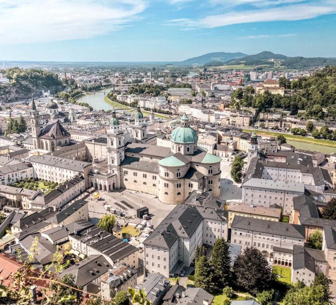 Städtetrip nach Salzburg Aussicht