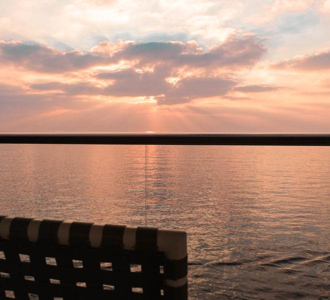 Kreuzfahrt Sonnenuntergang Balkon