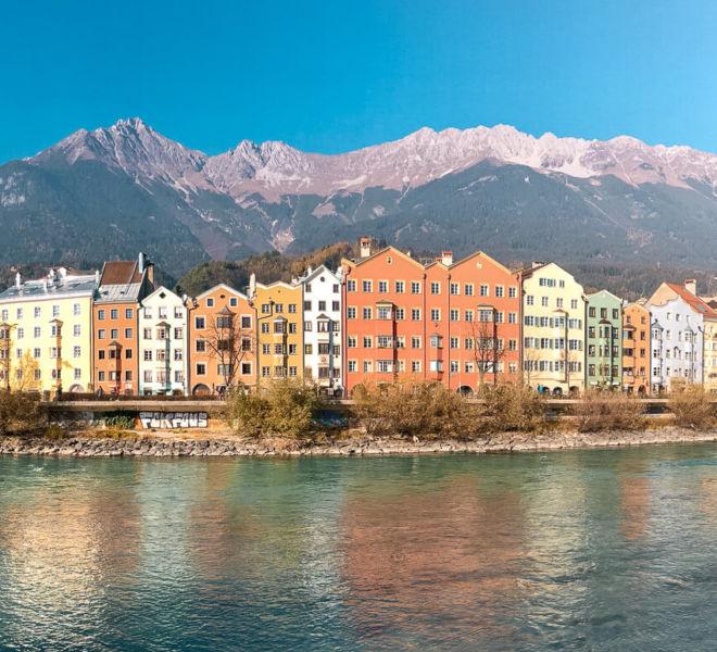 Innsbruck Altstadt Fluss Berge
